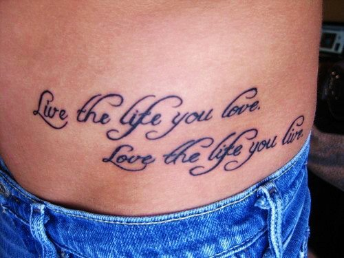Quote tattoo images designs for Tattoos love quotes