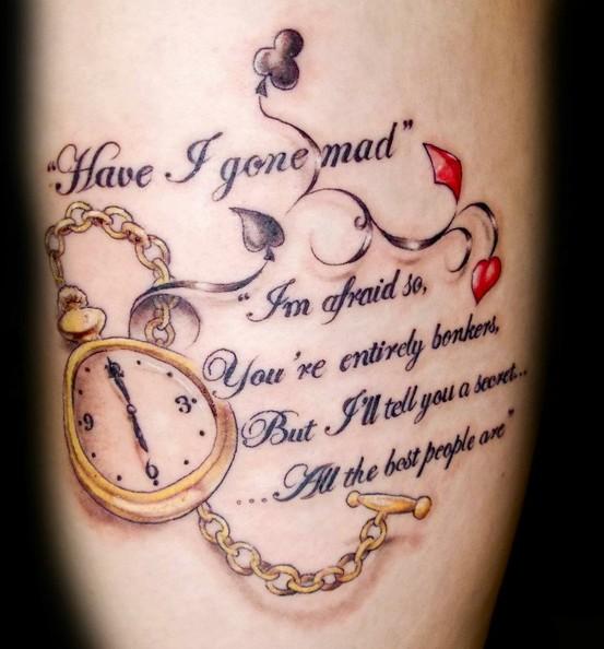Quote Tattoo Images & Designs