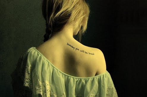 Shoulder Quote Tattoo