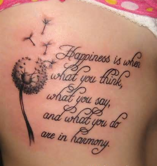 Shoulder Tattoo Quotes: Quote Tattoo On Right Back Shoulder