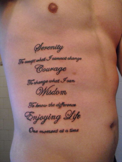 Tattoo Quotes For Men On Ribs