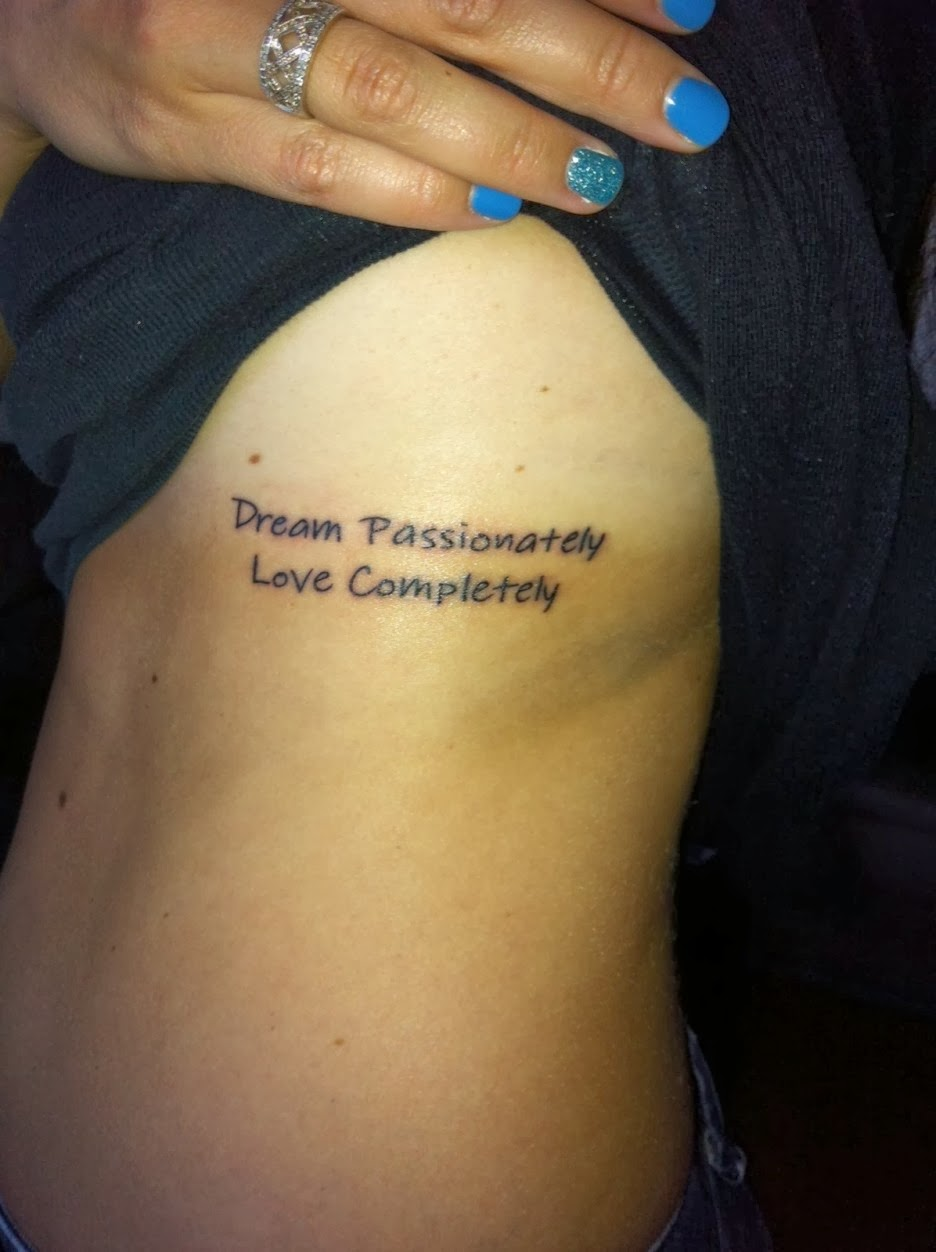 Tattoos For Girls On Ribs Quotes
