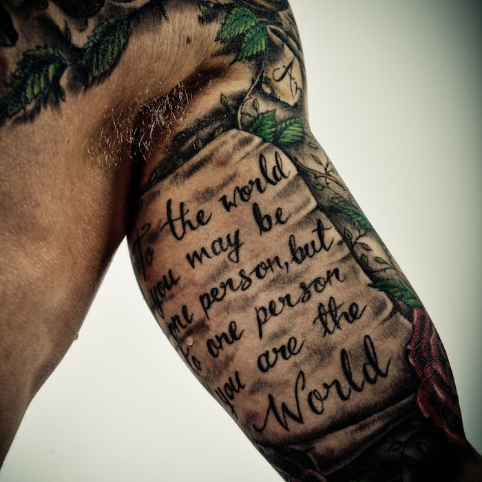 Tattoo Quotes For Men On Bicep Inner Bicep Text Tattoo Female Queen Latifah And Alicia Keys