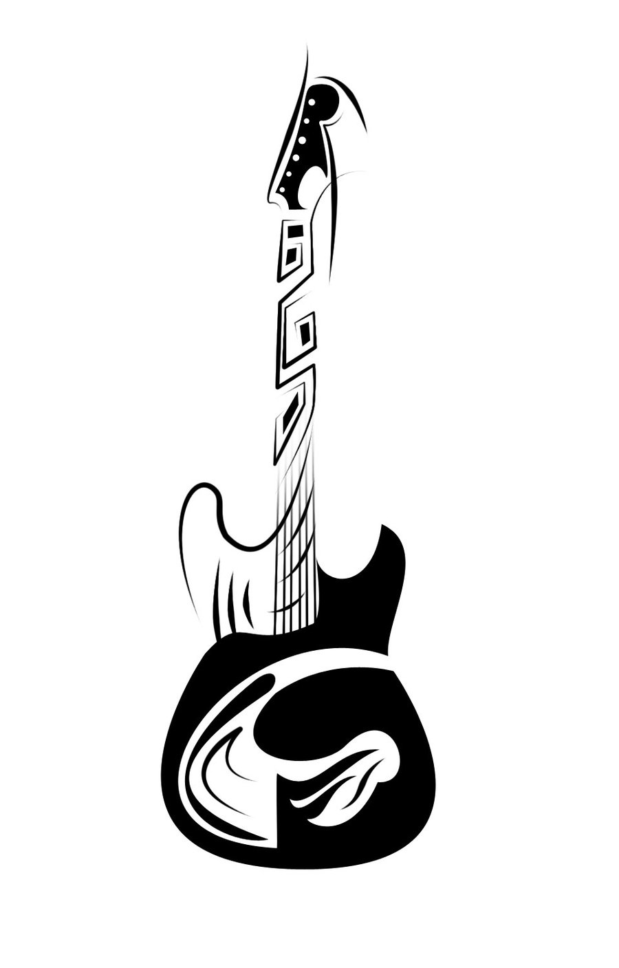 guitar tattoo images amp designs