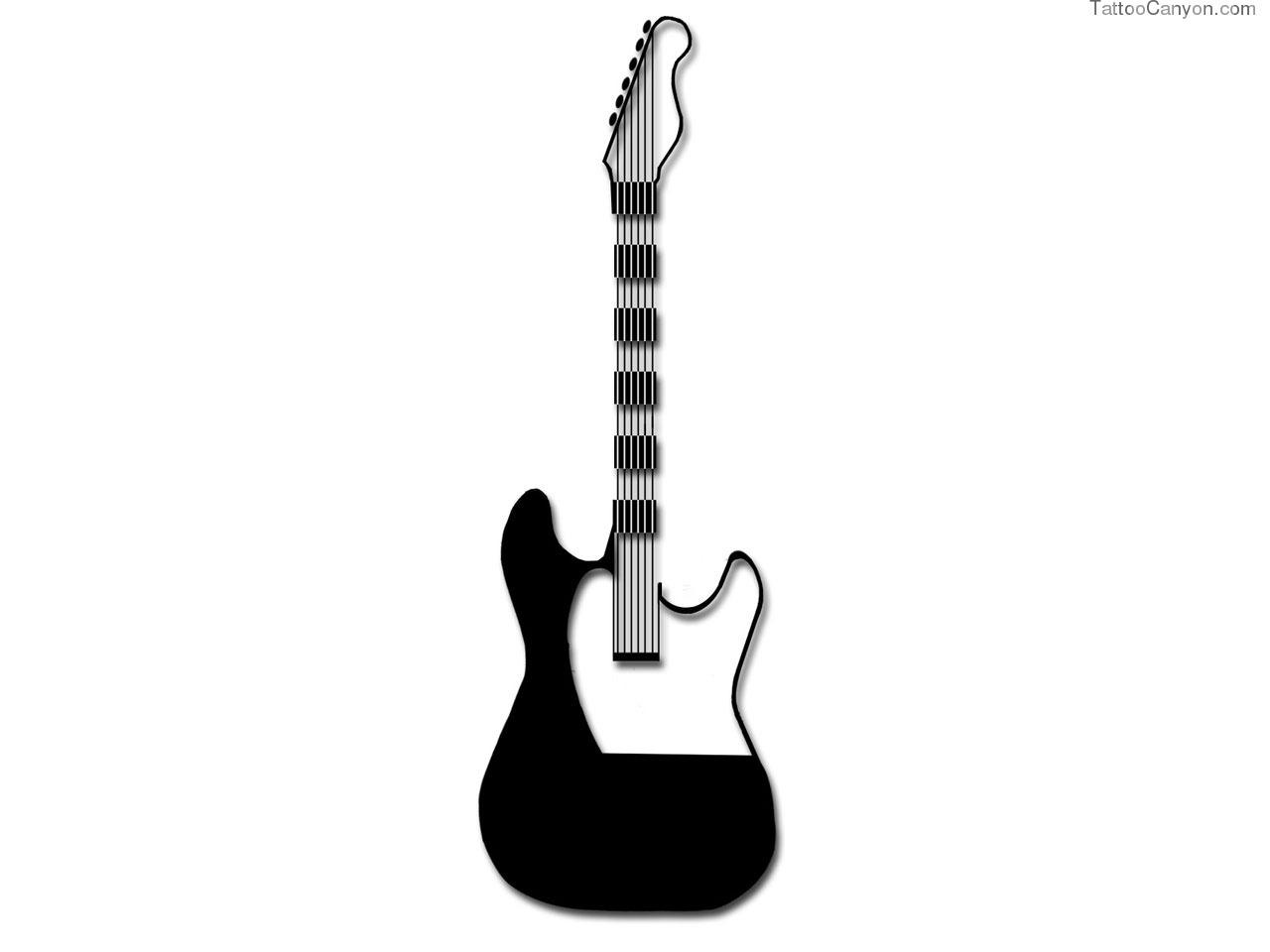 Music Guitar Tattoo Design