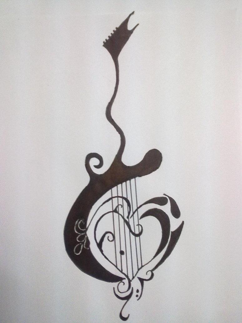 Music Guitar Tattoos Design