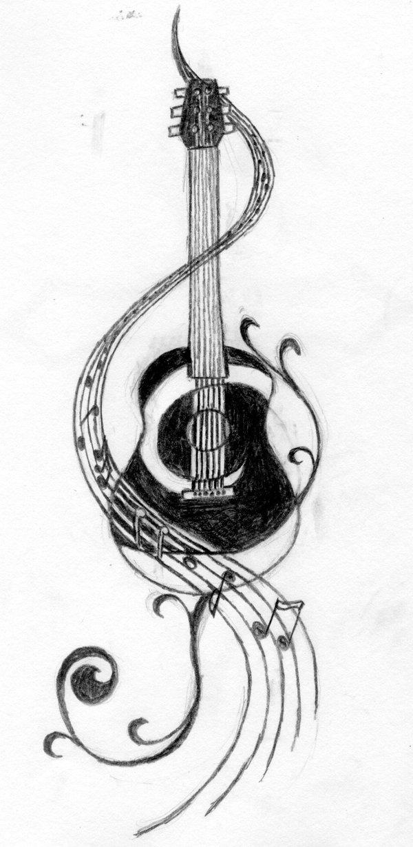 Music guitar tattoo ideas 2014