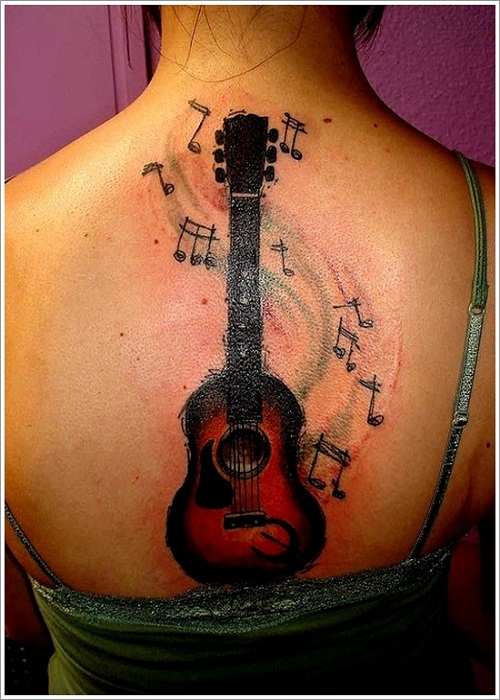 Music Note Tattoos on Arm For Girls Music Notes Guitar Tattoo on