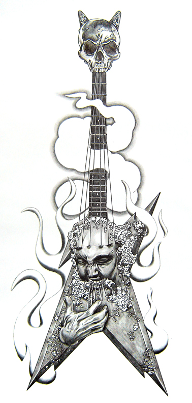 Guitar Tattoo Images Amp Designs