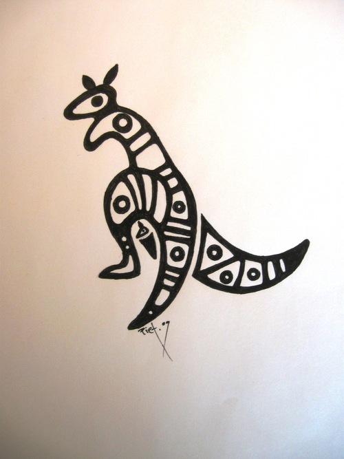 Kangaroo Tattoo Images & Designs Zombie Shark Tattoo