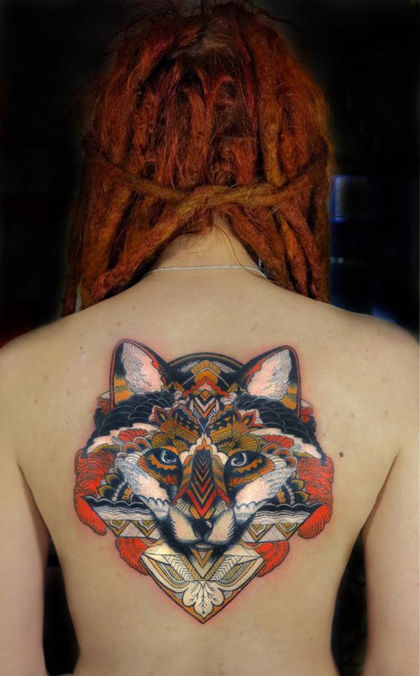 Fox girl tattoo