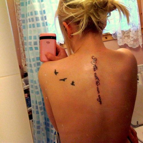 Spine Quote Tattoo