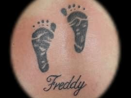 Treddy Footprints Tattoo