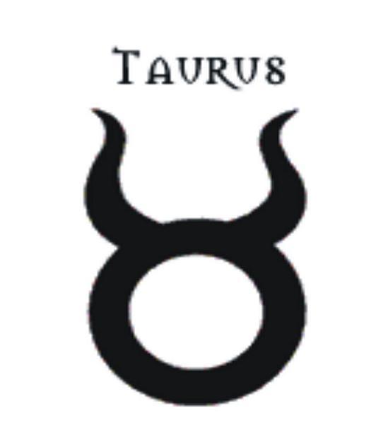 Black Taurus Tattoo Design