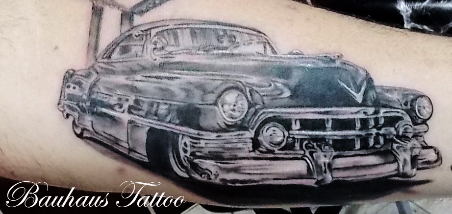 Cadillac Car Tattoo On Arm