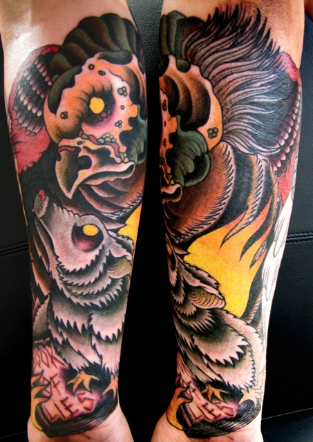 Vulture tattoo images designs for Vulture tattoo meaning