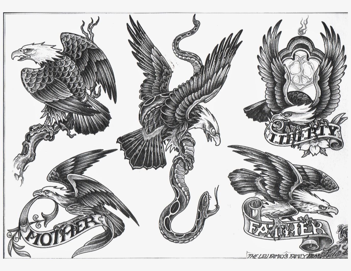 Amazing Vulture Tattoos Designs