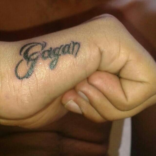 Gagan Name Tattoo On Hand