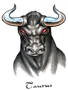 Taurus tattoo images designs - Raging demon symbol ...