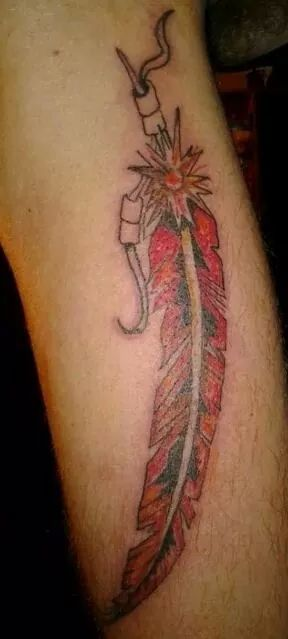 Red Feather Tattoo