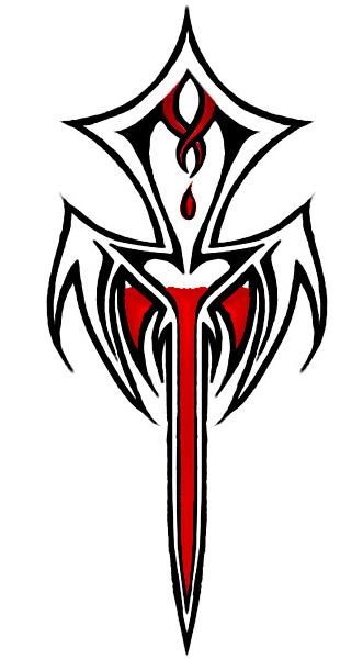 Goth Vampire Lady Tattoo Half Sleeve Design