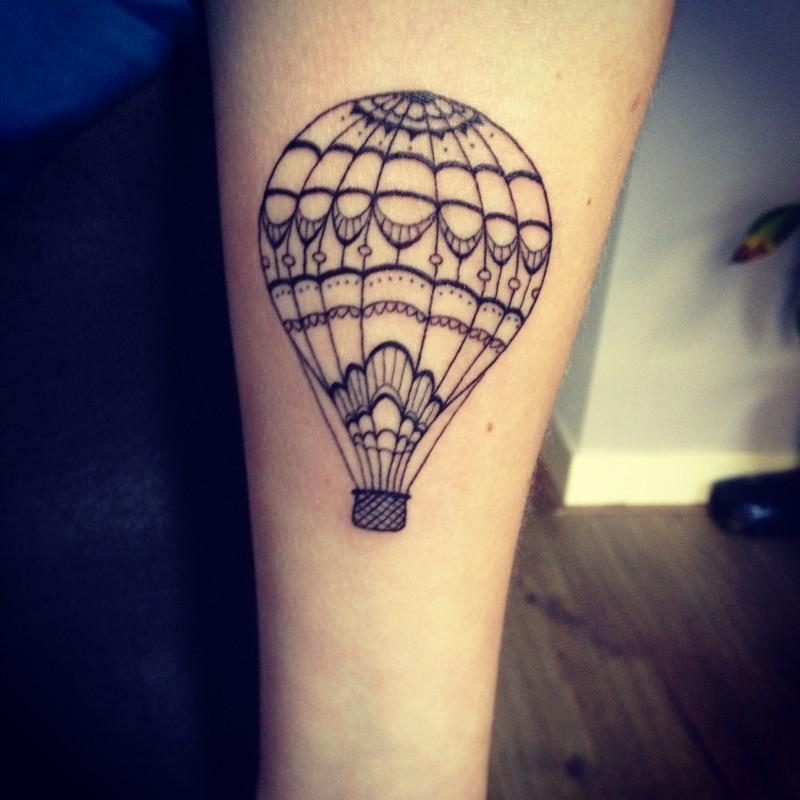 bdcc076b43c06 Small Air Balloon Tattoo
