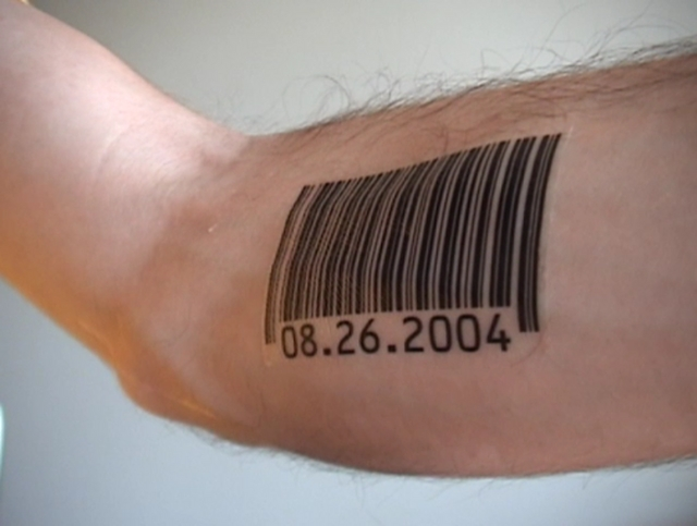 Barcode Tattoo On Inner Bicep