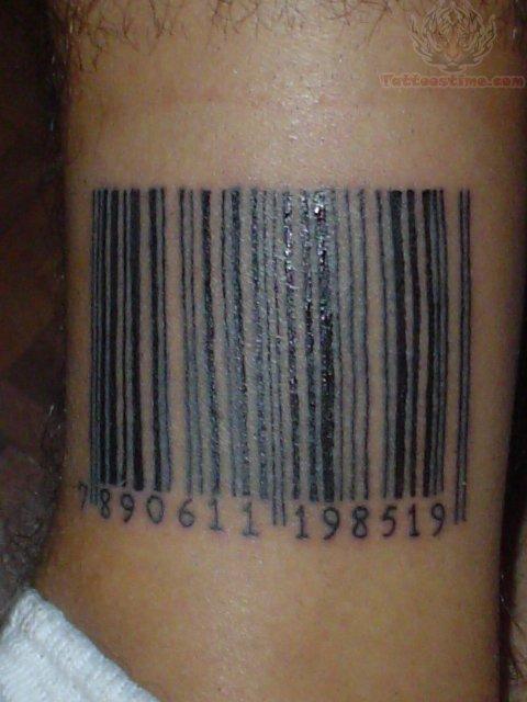Barcode Tattoo Neck Barcode Tattoo ...