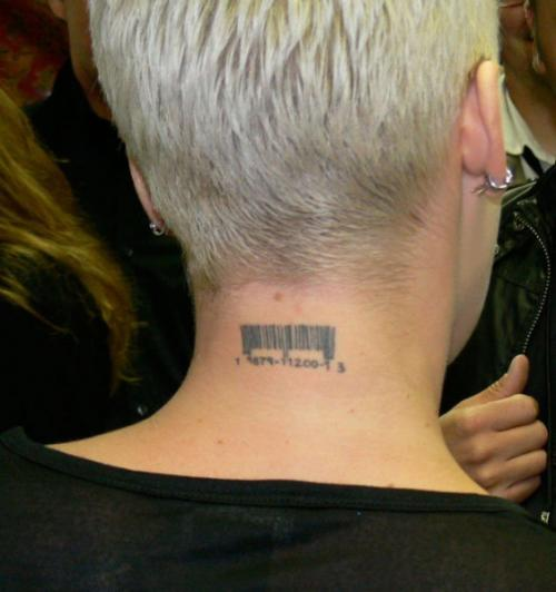 Barcode Tattoo Neck Barcode Tattoo Images ...
