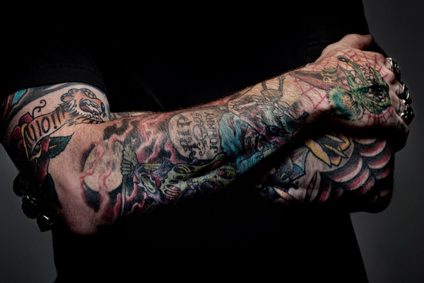 Biker tattoo images designs for Motorcycle tattoo sleeve