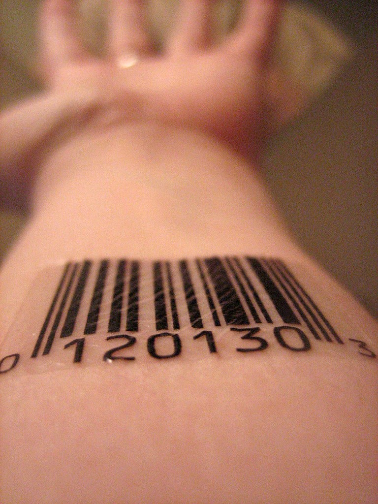 barcode tattoo images designs. Black Bedroom Furniture Sets. Home Design Ideas