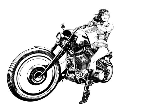 7c15656e4 Biker Girl Tattoo Design