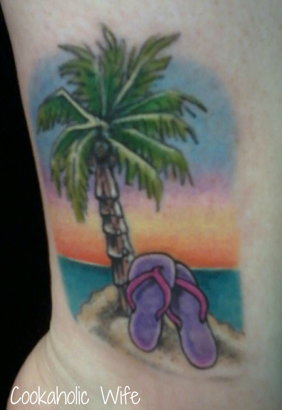 Palm tree tattoostime search for Palm tree ankle tattoo