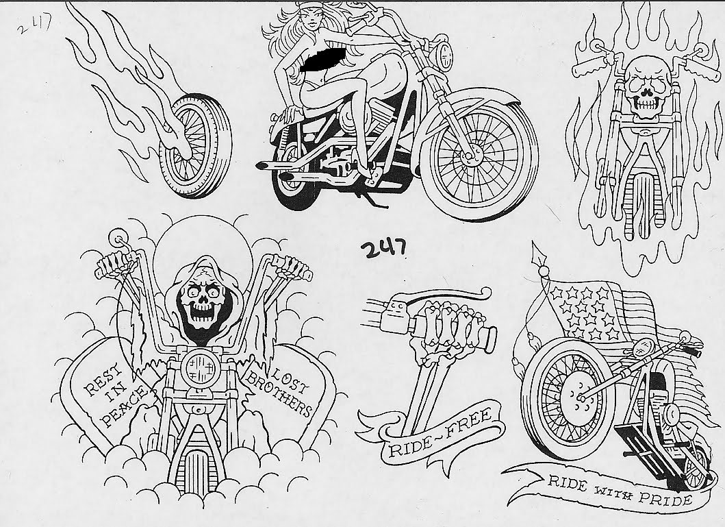 biker tattoo images designs. Black Bedroom Furniture Sets. Home Design Ideas