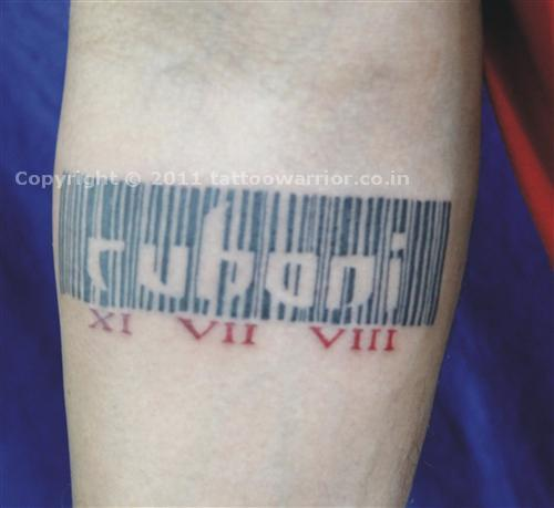 Barcode Tattoo Images & Designs