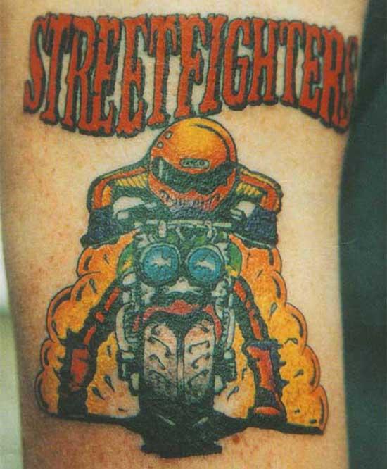 Streetfighter Biker Tattoo