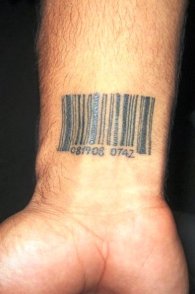 Wrist Barcode Tattoo For Men