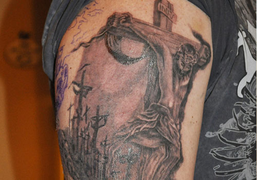 Christian tattoo images designs for Tattoos of crosses with jesus