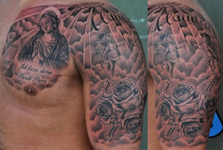 Christian tattoo images designs for Religious chest tattoos