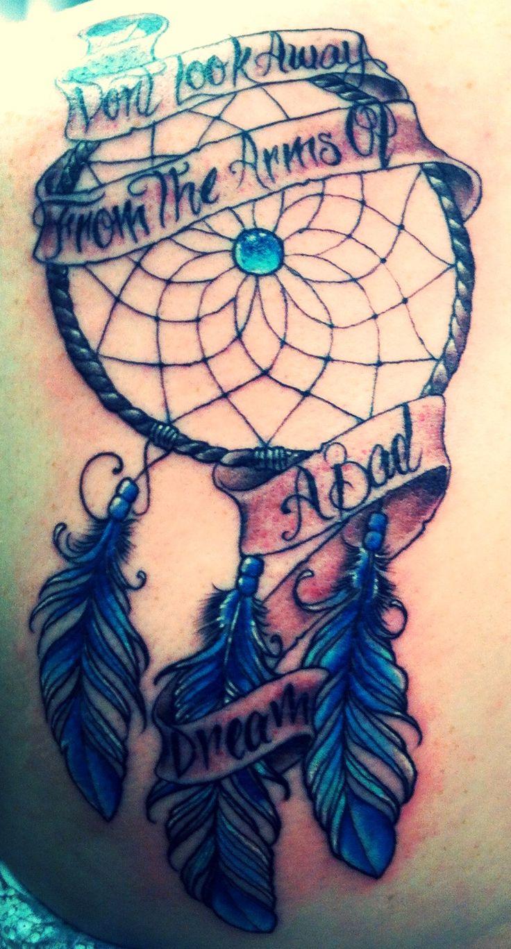 Banner And Dreamcatcher Tattoo