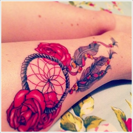 Dreamcatcher Tattoos Designs Ideas And Meaning: Dream Catcher Tattoo Images & Designs