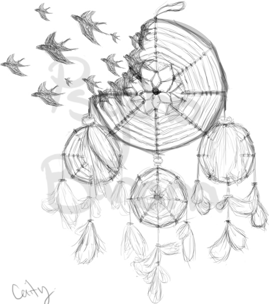dreamcatcher tattoo template - dream catcher tattoo designs drawings sketch coloring page