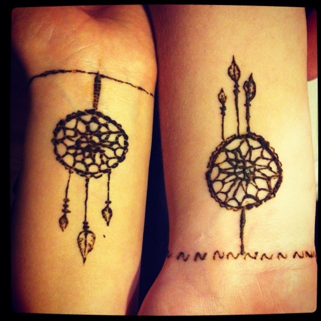 Gallery For gt Small Dreamcatcher Tattoo On Wrist
