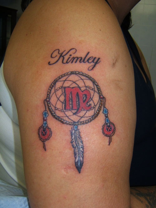 Dream Catcher With Names Color Ink Dreamcatcher Tattoo 35