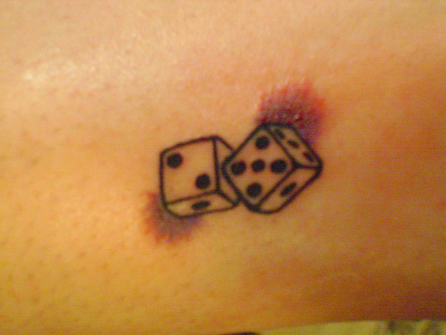 dice tattoo stencils pictures to pin on pinterest tattooskid. Black Bedroom Furniture Sets. Home Design Ideas