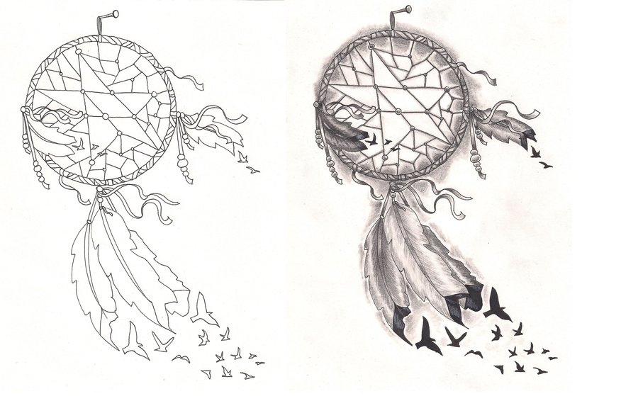 dreamcatcher tattoo template - good dreamcatcher tattoos designs