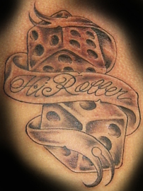 Tribal Heart With Banner Dice Tattoo Images &am...