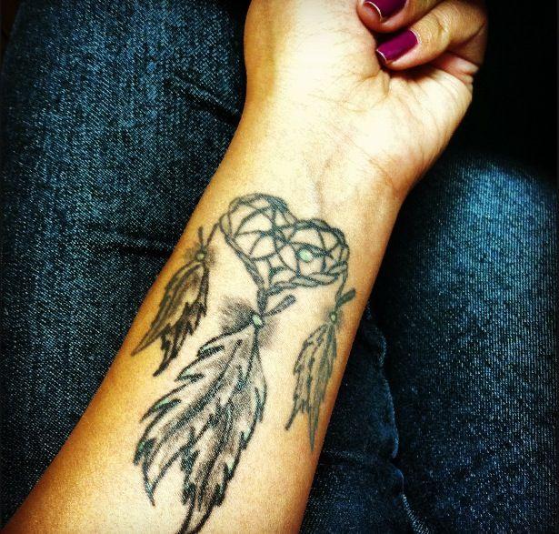 Left Forearm Dreamcatcher Tattoo For Girls