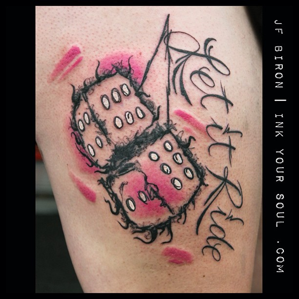 Dice tattoo images designs for Ride or die tattoo designs