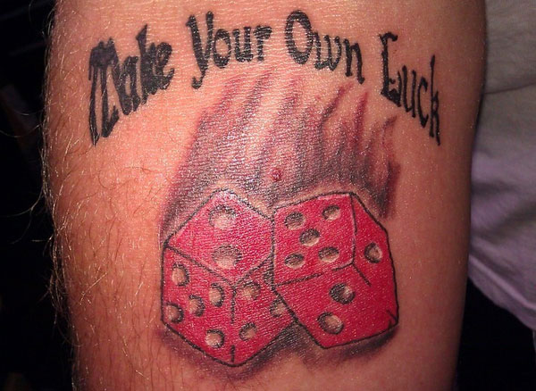 Dice tattoo images designs for Write your own tattoo